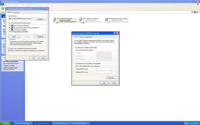 IPv4 Properties settings change to DHCP