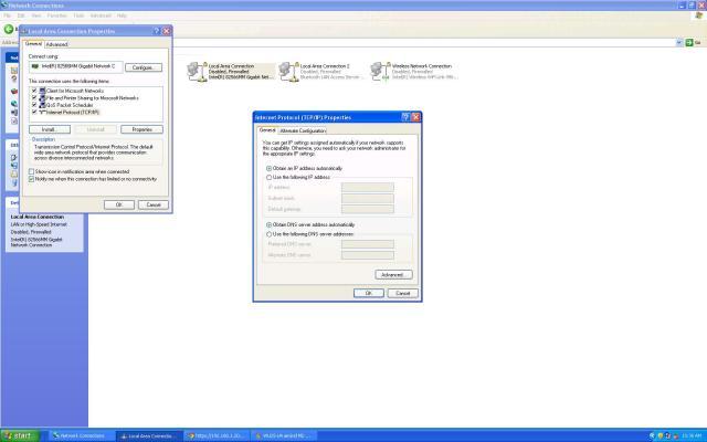 IPv4 Properties settings change to auto DNS