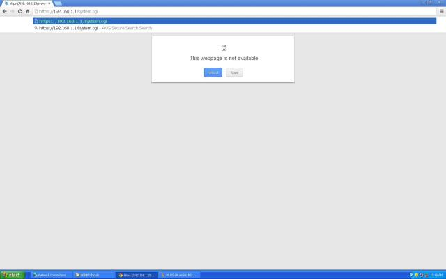 Webpage not available at 192.168.1.1