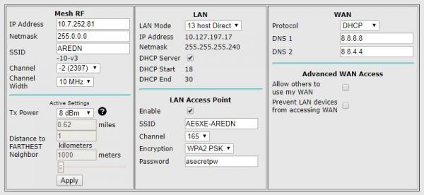 hAP ac lite 5GHz LAN Access Point | Amateur Radio Emergency Data Network