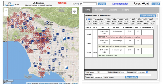 New application: EmComMap | Amateur Radio Emergency Data Network
