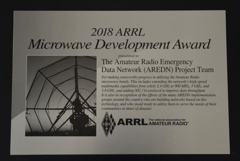 AREDN Team Receives ARRL Award | Amateur Radio Emergency